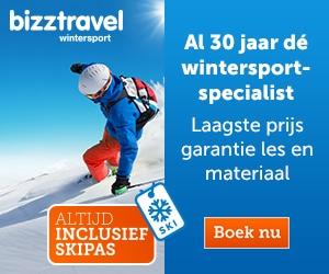 bizztravel wintersport met skipas banner